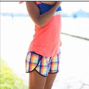 Lululemon Seawheeze Track Attack Plaid Shorts